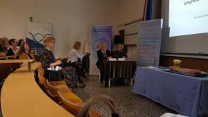 SMZ 9. 3. 2019. moderatori Adelka Zoretić i Željka Rašić, 1. red Marija Čulo i Ana Tomić